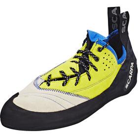 Scarpa Velocity L Climbing Shoes Men lightgray/lime fluo